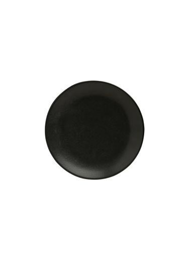 Porland Seasons Siyah Düz Tabak 24cm Renkli